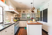 Spanish-style kitchen with tile.