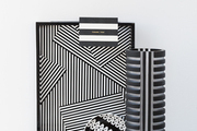 Black-and-white striped gifts