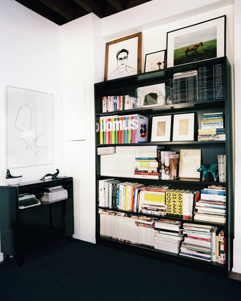 vintage bookshelf black bookshelves in an office space