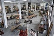 A view of the loft-style space of Philadelphia's American Street Showroom