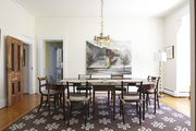 A Victorian dining room with period-appropriate furniture