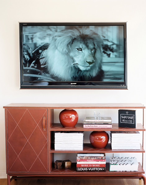 Wall Decoration Above Tv : Wall mounted tv photos design ideas remodel and decor