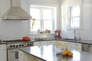 Carina Villinger's revamped kitchen, with   a new dishwasher by Miele.
