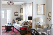 A mix of family heirlooms and vintage finds in a Nashville, Tennessee, living room