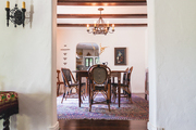 A peek into a Spanish-style dining room.