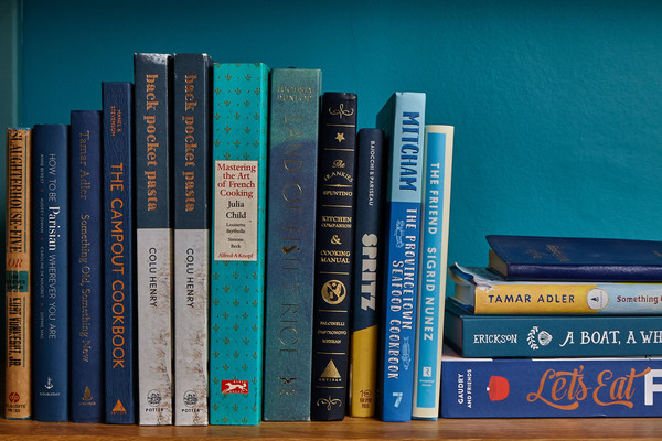Blue Bookshelf Photos (1 of 26) []