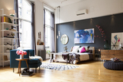 The bedroom designed by Athena Calderone for CB2