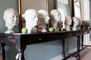 Marble busts at 1stdibs dealer the Apartment, in Copenhagen