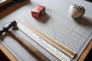A ruler and a hammer on graph paper