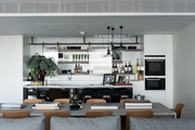 The open kitchen and dining area of London designer Tara Bernerd