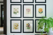 A Boho floral gallery wall.