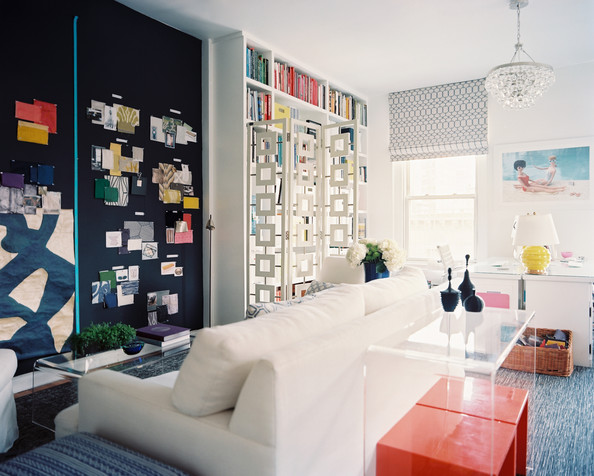Eclectic Hollywood Regency Work Space