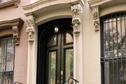 An exterior of a Brooklyn brownstone.