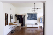 Katherine Tsina's apparel design studio and work space at her home in Los Angeles
