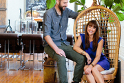 Scott Jarrell and Kristan Cunningham of Hammer and Spear in their downtown LA loft