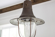 An industrial pendant light