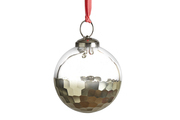 a classically faceted ball ornament