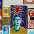 A close up painting of Frida Kahlo.