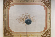 A view of the ceiling in a French home.