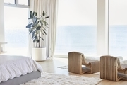 The view from Lunya founder Ashley Merrill's beach house master bedroom.