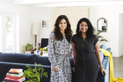 Rachel Bilson and Kishani Perera in Bilson's living room