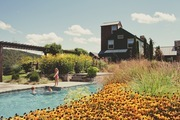 A pool outside a home in Millerton, New York