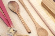 Wooden spoons and serving accessories at Napa Valley's Poor House