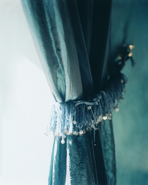 Green Curtains blue green curtains : Pulled Back Curtain Photos, Design, Ideas, Remodel, and Decor