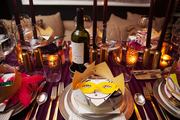 A place setting at Sam Masters Fat Tuesday Party