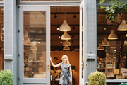 DwellStudio founder Christiane Lemieux outside her SoHo shop