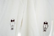 Robes embroidered with Mr. C's logo