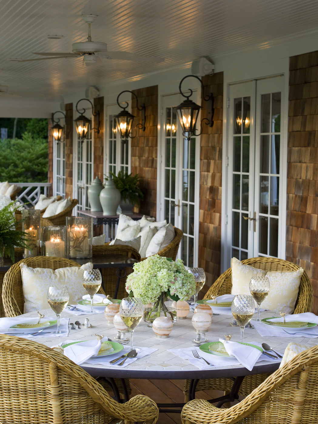 Brown country patio outdoor patio design ideas lonny for Country style porch