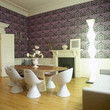 Eclectic Purple Dining Room
