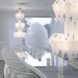 Eclectic White Dining Room