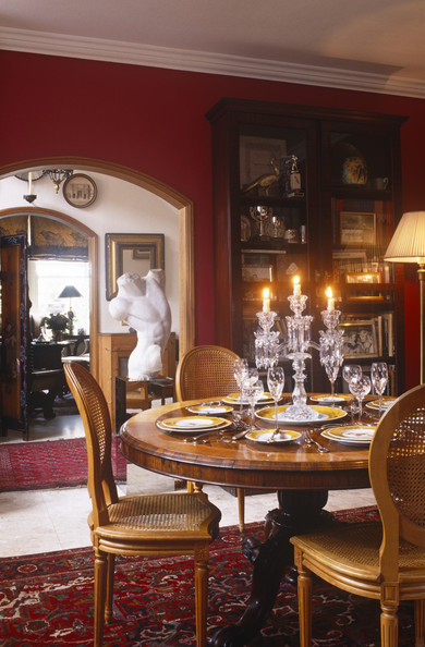 Red dining room photos 65 of 84 lonny for Traditional red dining room