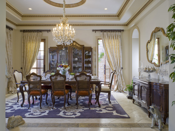 Traditional dining room dining room decorating ideas lonny - Dining room curtains ideas ...