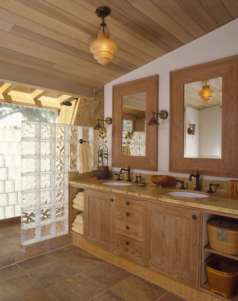 Walk in shower photos design ideas remodel and decor for Country bathroom ideas photo gallery