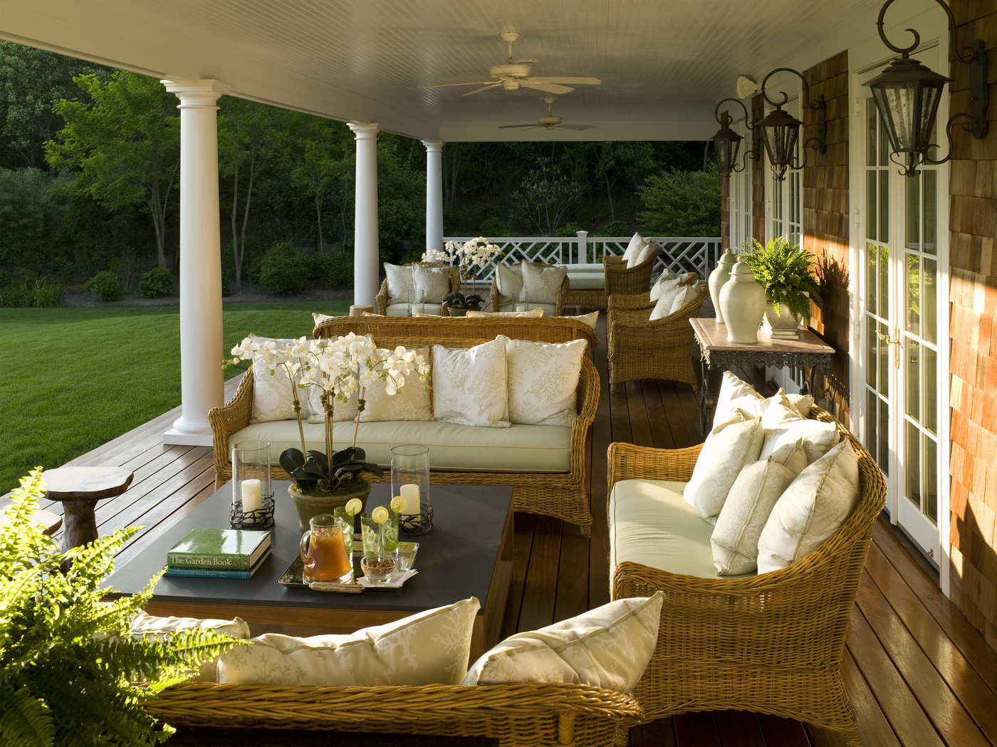 Brown Country Patio - Outdoor Patio Design Ideas - Lonny on Country Patio Ideas id=48459