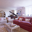 Red-White Contemporary-Traditional Living Room