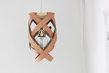 DIY To Try: Leather Pendant Light
