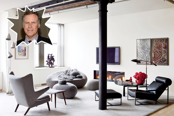 Will Farrell's Modern Apartment