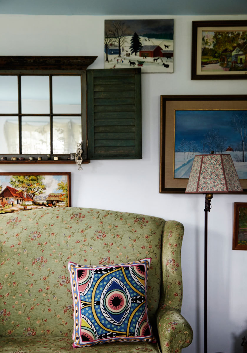 An eclectic corner in the main residence.