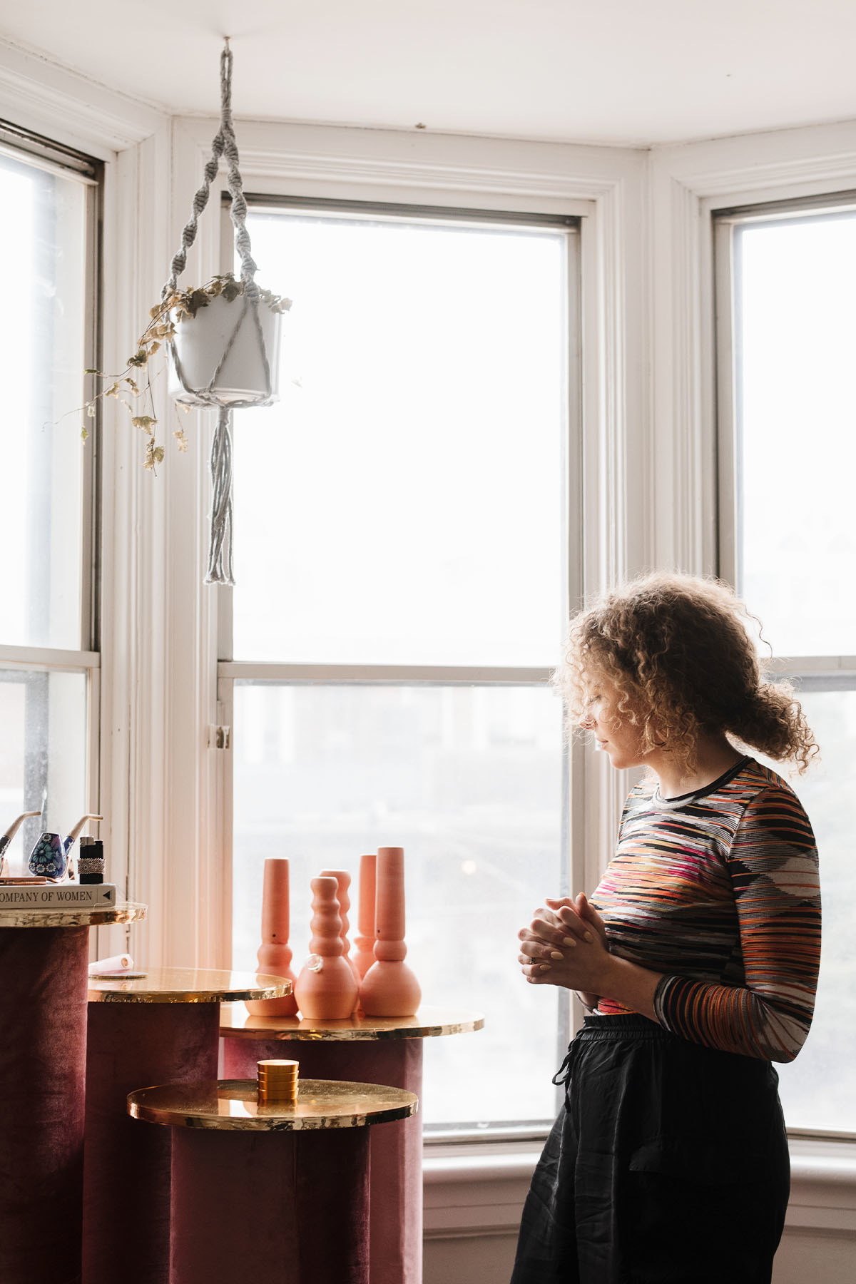 """I think being an active consumer makes me more aware and more excited about how we can find new ways to break the stigma of cannabis through artful design,"" explains Dineen. Diana Vander Meulen Custom Pedestals 