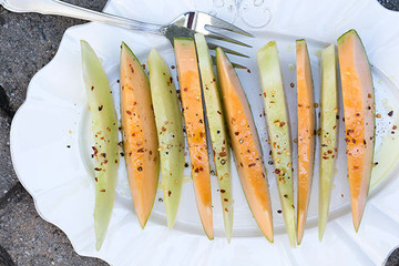 Cool Summer Salad: Spicy Honeydew and Cantaloupe