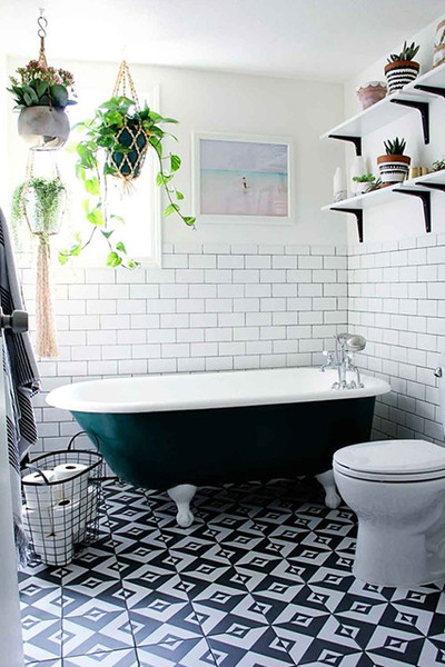 Boho Bathroom. Boho Bath  How To Do Jungalow Like A Minimalist Lonny