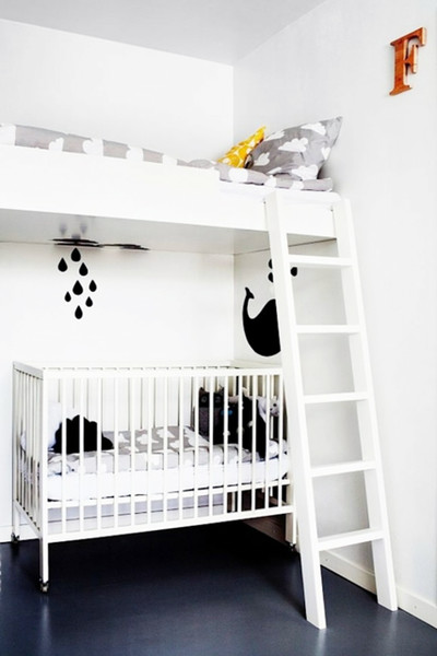 Lofted Bed For Shared Kid's Space