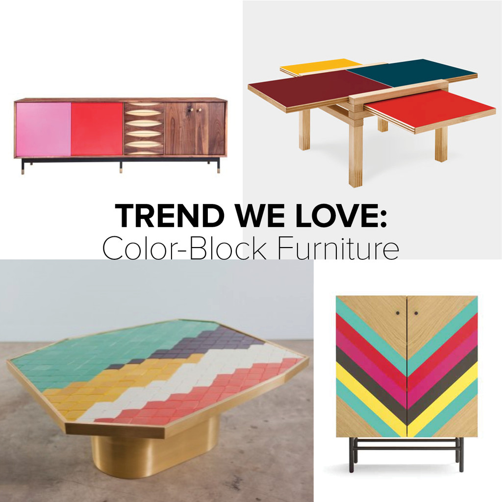 Trend We Love: Color Block Furniture   Trends We Love   Lonny Awesome Design