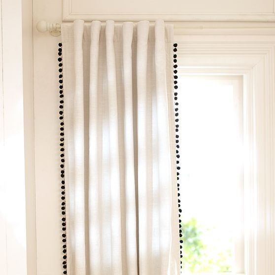 The Pom Fringed Curtains