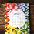 Pieces and Patterns Wall Calendar by One Canoe Two