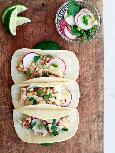 Fish Tacos with Radish Salsa